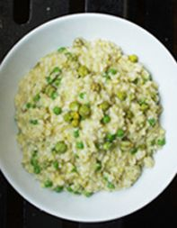How to make green-chickpea risotto.