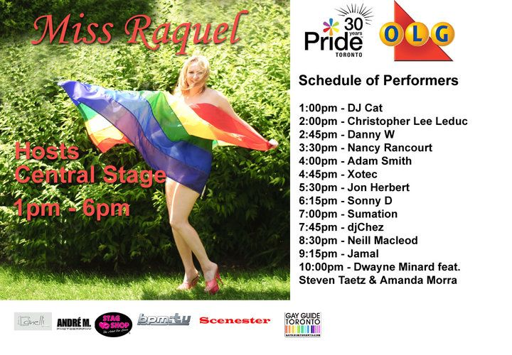Miss Raquel  Pride Toronto 2010  Photographer: Andre Matthews  Flag: Stag Shop