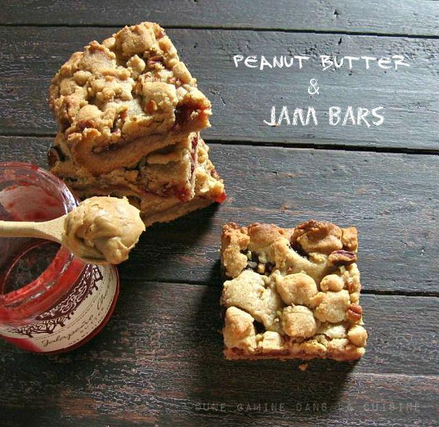 Decadent Peanut Butter & Jam Bars, irresistible!