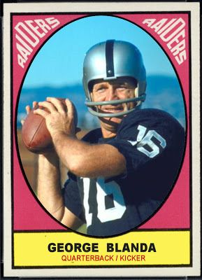 1967 Topps George Blanda, Oakland Raiders,  Football Cards That Never Were.