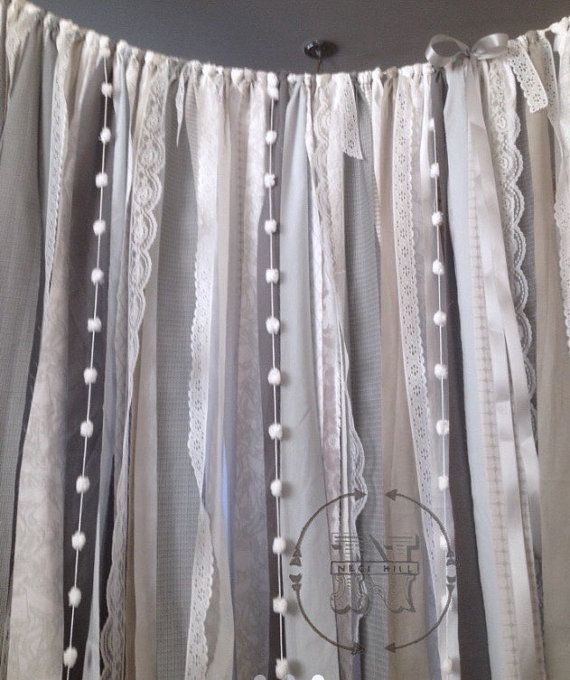 Gray Industrial Curtain Urban Chic Boho Eco by ChangesByNeci