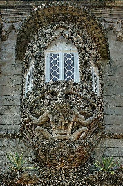 Triton Door at Palácio da Pena, Sintra, Portugal