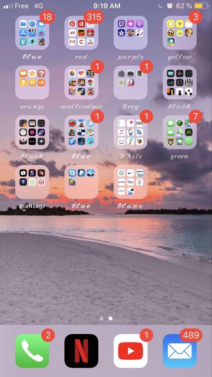 Aesthetic Phone Phoneorganisation Aestheticphone Organization Iphone Organization Organization Apps Organize Phone Apps