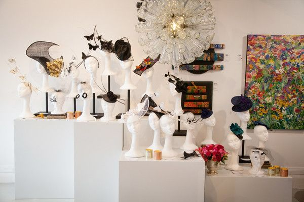 """Natalie Chan millinery new collection of hats from """"A Date With A Surrealist"""" from Natalie Chan Boutique launched at the Black Door Gallery in Parnell, Auckland"""