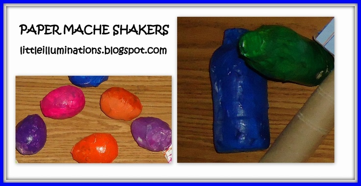 Paper mache shakers: Kids Stuff, Young Children, Paper Mache, Musical Instruments Fantastic, Kid Stuff, Children Creating, Mache Shakers