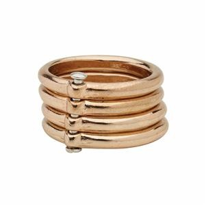 Ladies Rose Gold Bar Ring | Chici Fashion Jewellery