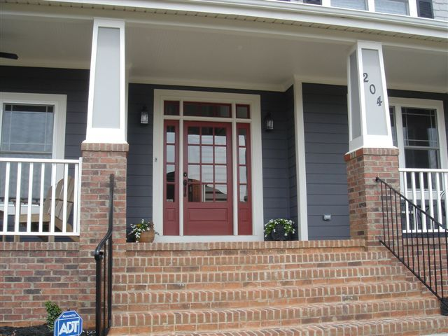 Like These Brick Craftsman Columns Front Porch Column Idea Love The House Color Whit Trim And We Already Have A Red Door Bottom Half Is
