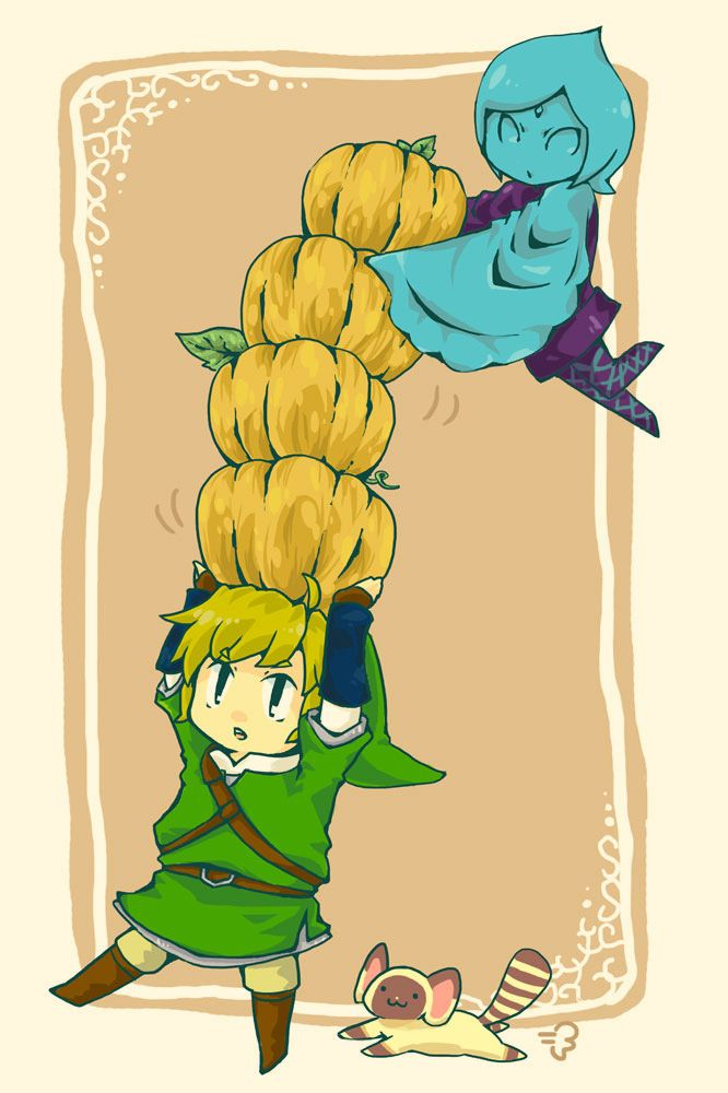 Cute Fi helping Link in a sidequest   Zelda (LoZ video game ...