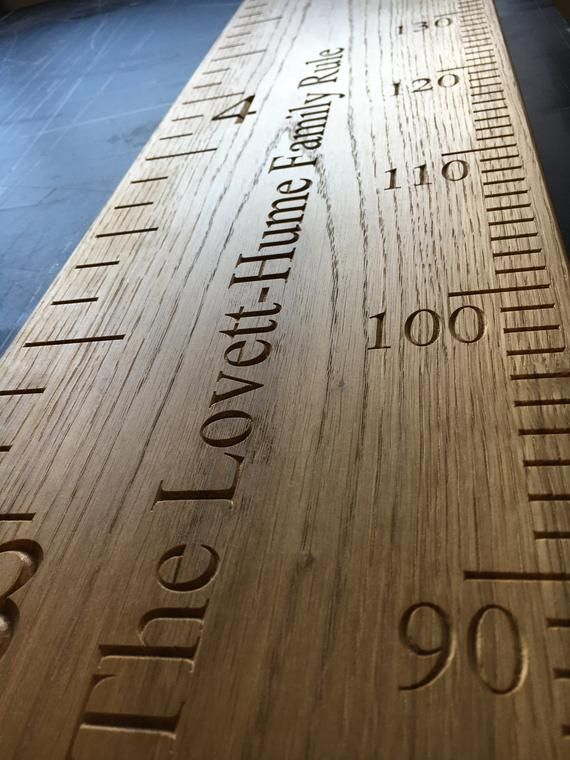 Height Chart Christening gift. Personalised Handmade Wooden Growth Solid Oak