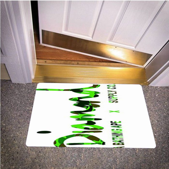 DIAMOND SUPPLY CO BATHING APE GREEN BEDROOM CARPET BATH OR DOORMATS