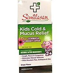 Similasan Kids Cold And Mucus Relief Cough Expectorant Syrup -- 4 fl oz