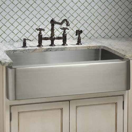 Stainless farmhouse sink For the Home Pinterest