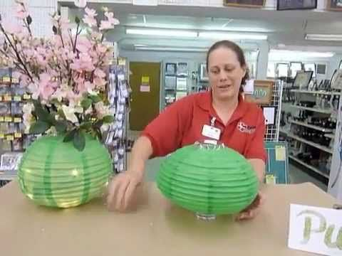 paper lanterns CENTERPIECES at wedding reception | Crankin' Out Crafts -ep69 Paper Lantern Centerpiece