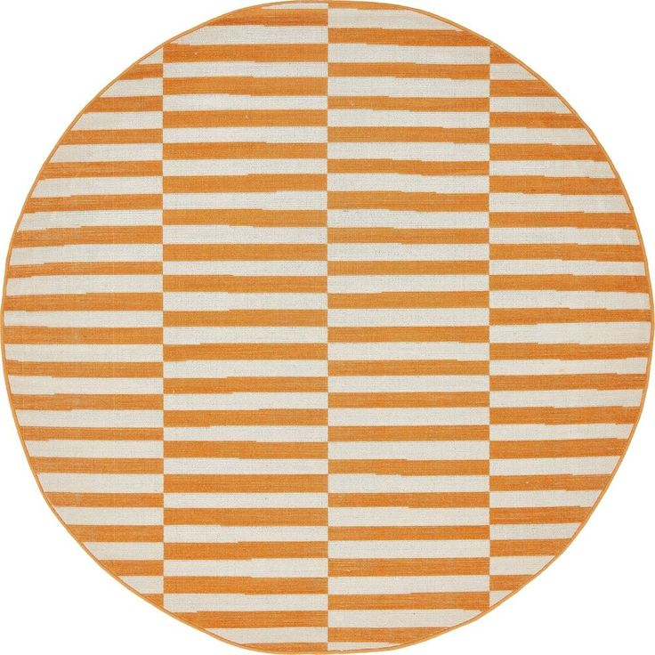 Unique Loom Tribeca Collection Orange 5 ft Round Area Rug (5' x 5') New | Home & Garden, Rugs & Carpets, Area Rugs | eBay!