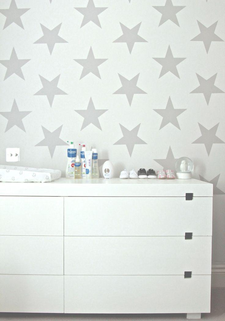 Starry wall nursery.  Nursery Design by Blank Slate Studio Email: hello@blankslatestudio.com