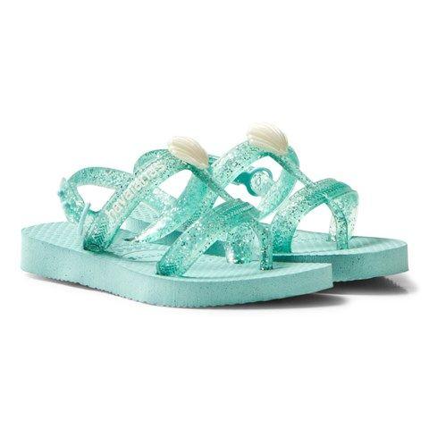 Havaianas Kids Ice Blue Joy Sling Back Flip Flops