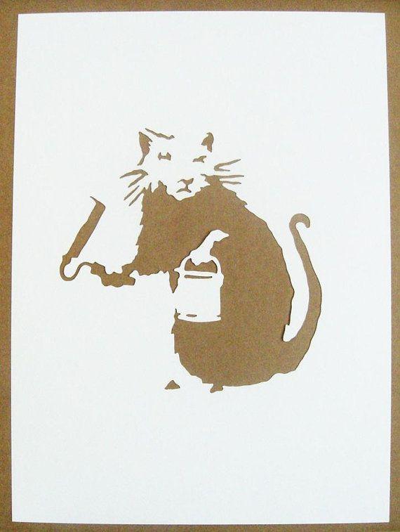 BANKSY Rats Stencils Set Of Five Hip Hop Doormen door existencil