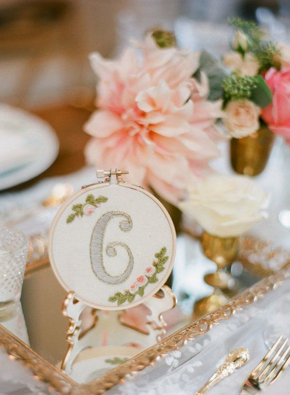 boho wedding table number / http://www.himisspuff.com/wedding-table-numbers-centerpieces/8/