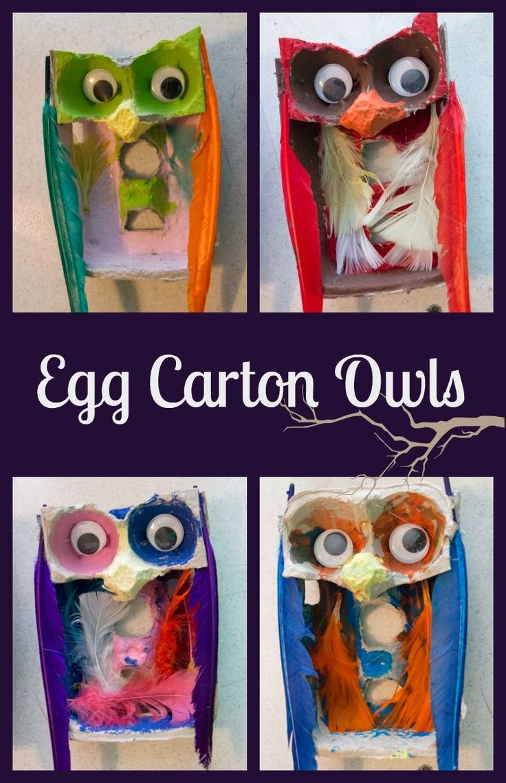 Life with Moore Babies: Egg Carton Owls