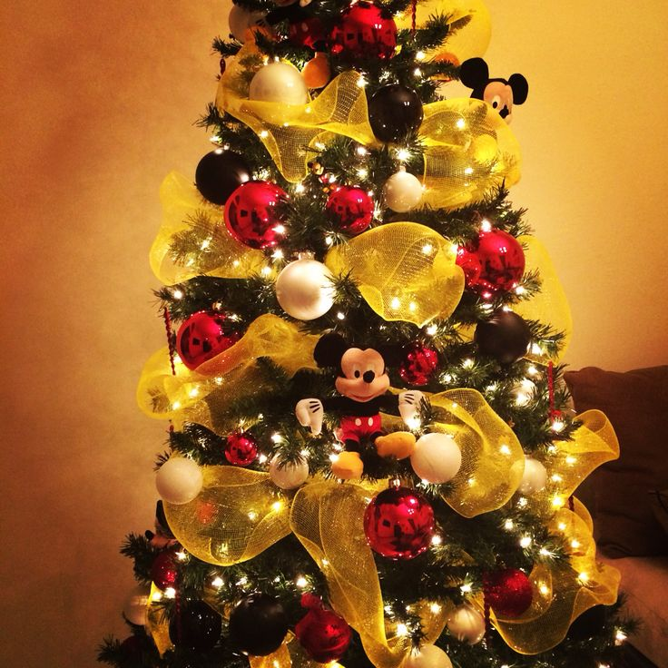 mickey mouse christmas tree decorations