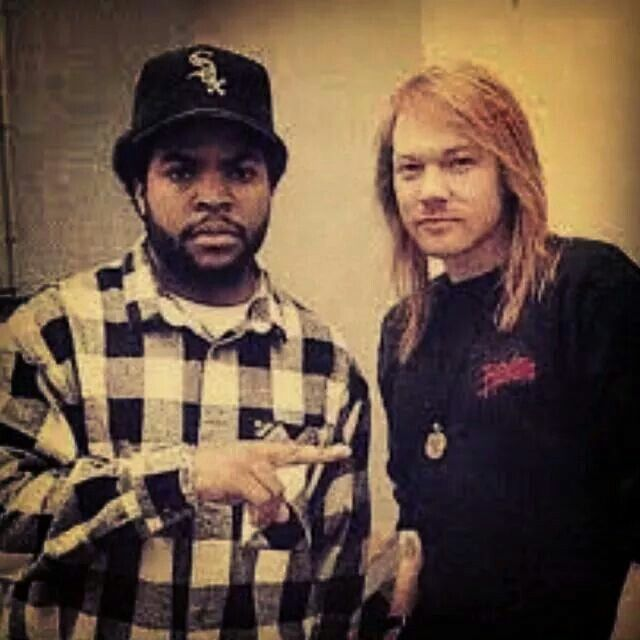 Axl Rose and Ice Cube