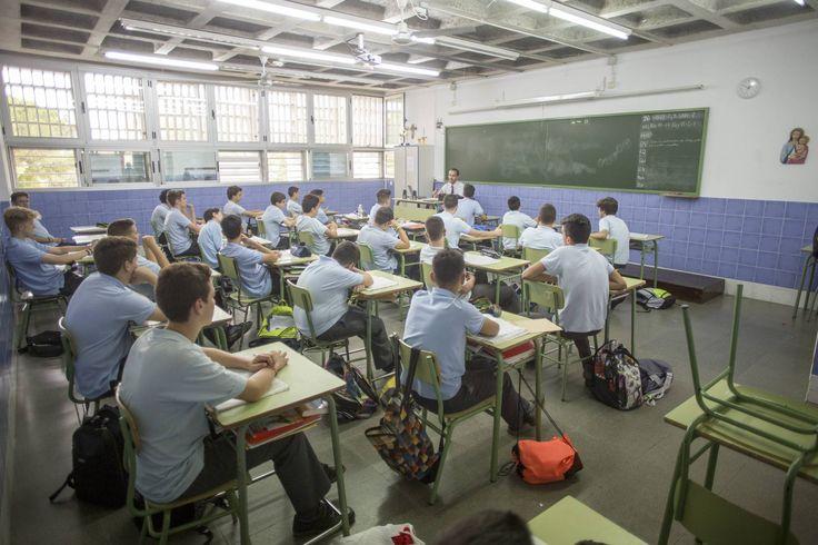 Clase de secundaria en un colegio concertado de Sevilla.