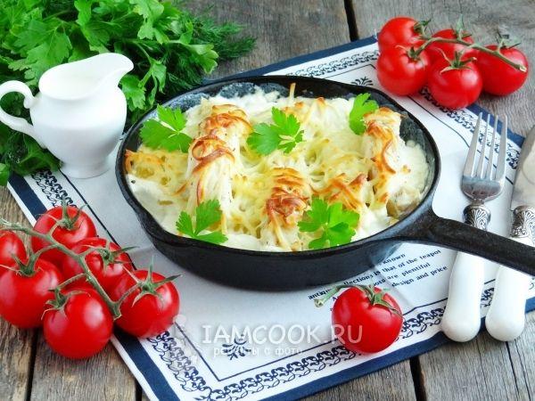 Треска, запеченная с картошкой в духовке