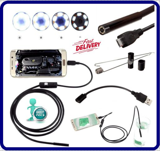 DANIU Endoscope Inspection Waterproof Camera 5.5mm Digital 5m USB For Android  #UnbrandedGeneric