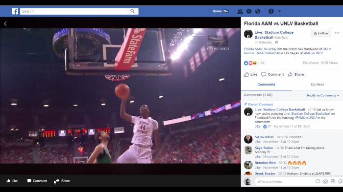 Facebook Acquires Exclusive Rights to 47 College Basketball Games From Smaller Conferences