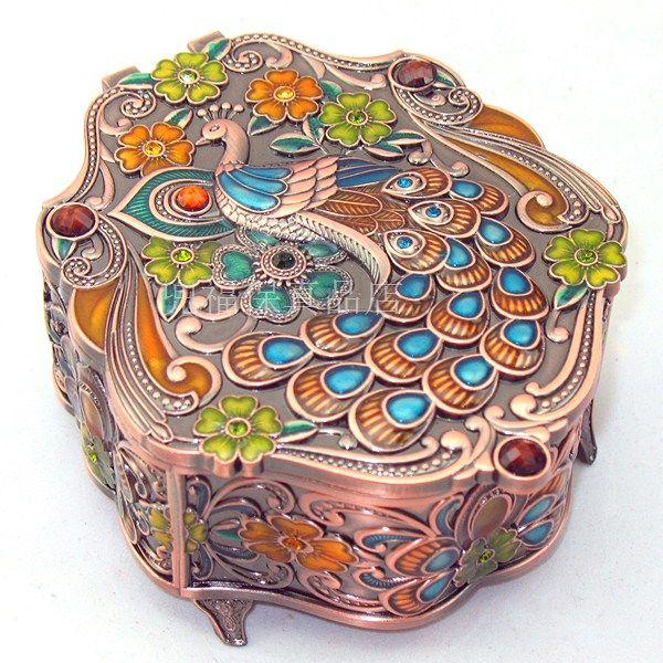 Free shipping! Tin jewelry box cosmetic box peacock love shaped diamond gift on Aliexpress.com | Alibaba Group