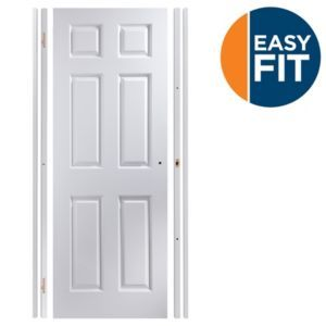 Easy Fit 6 Panel Pre-Painted Internal Door Kit Easy Fit 6 Panel Pre-Painted Internal Door Kit For Opening Sizes (W)683-695mm (H)1988-1996mm (D)35mm.The Easy Fit door set is a door and frame already cut and routered for hinges and latch ensuring it http://www.MightGet.com/january-2017-13/easy-fit-6-panel-pre-painted-internal-door-kit.asp