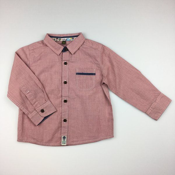 Baker, boy's cotton long sleeved shirt, excellent pre-loved condition (EUC), size 1, $21 #boysfashion #kidsfashion #tedbaker #shirts #daisychainclothing #preloved