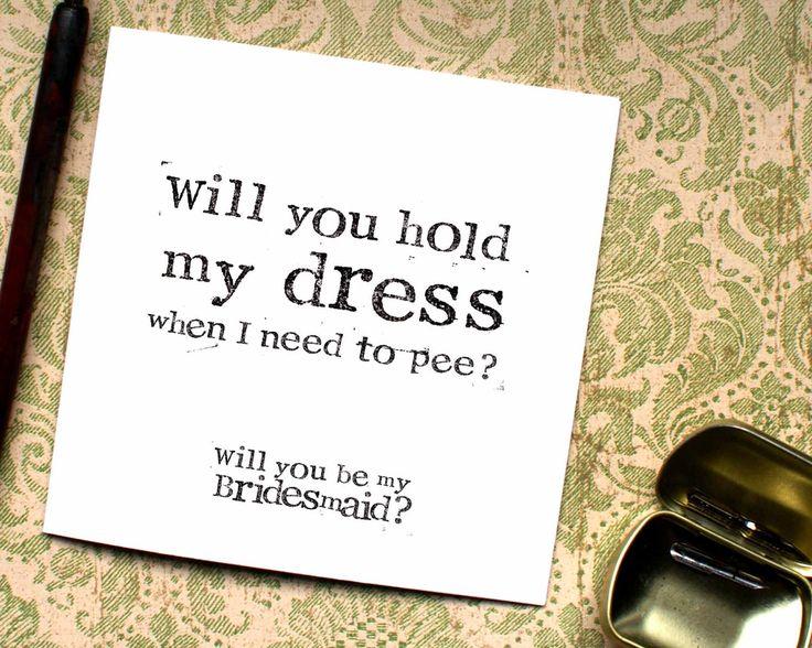 Funny Bridesmaid card, Maid of Honor Card, Bridesmaid Funny, Matron of Honour, Chief Bridesmaid, Maid of Honour, Matron, CB19 by BEEcardsUK on Etsy