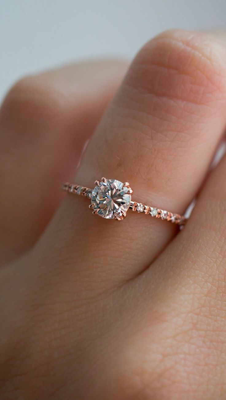 Unique vintage diamond solitaires with reclaimed diamonds by S. Kind & Co.