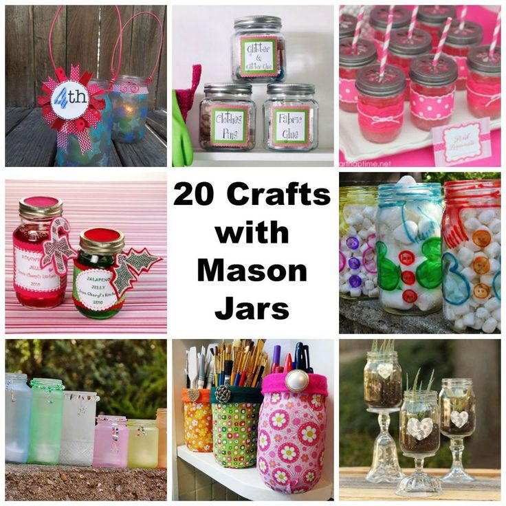 """""""20 Crafts with Mason Jars: Wedding Ideas, Centerpieces, Decor and More"""" free eBook"""
