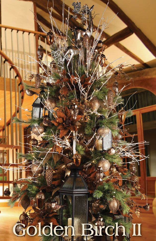 melrose designer christmas tree 2013 golden birch ii rustic - Designer Christmas Tree