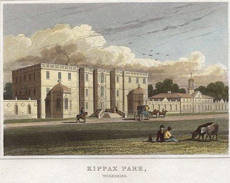 1822? tinted print Kippax Park Yorks