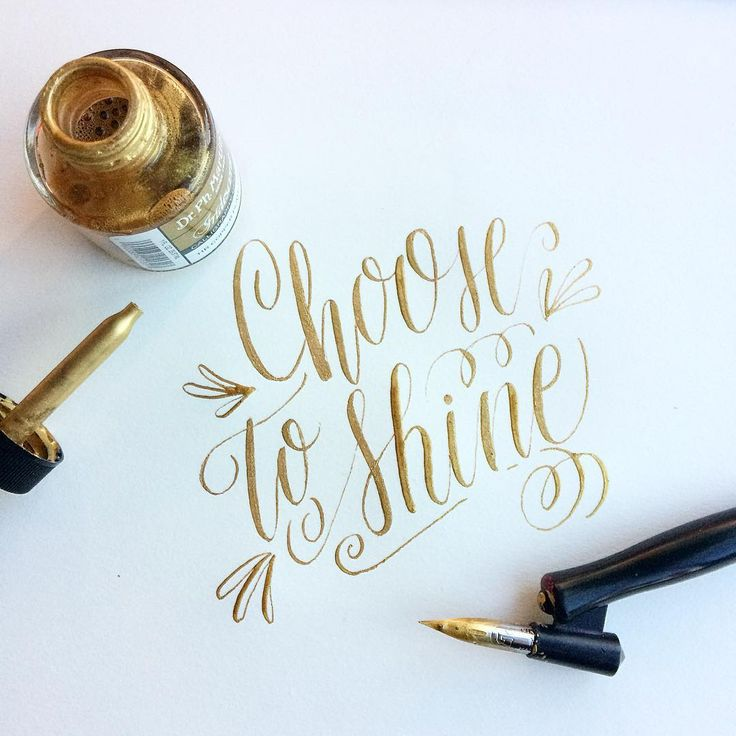 Choose to shine  #30daysofcalligraphy #moderncalligraphy #calligraphy
