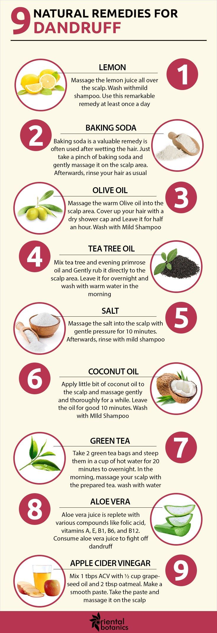 9 Natural Home Remedies To Get Rid Of Dandruff Oriental Botanics Home Remedies For Dandruff Dandruff Remedy Natural Home Remedies