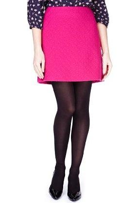 New Wool Rich Textured Tweed Mini Skirt