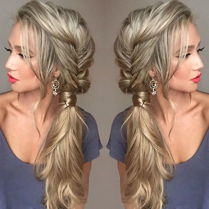 This hairstyle  Double tap if you like it  This beauty @stephanie_danielle has been enjoying creating hairstyles with her Dirty Blonde #luxyhair extensions for length and thickness  by luxyhair