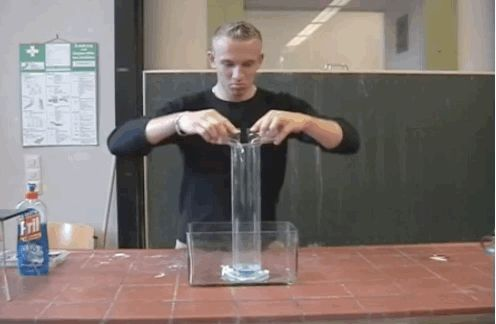 Hydrogen peroxide mixed with potassium iodide. | 32 Mesmerising GIFs That Will Make You Fall In Love With Science