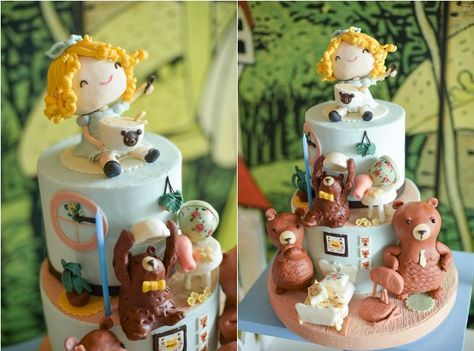 Justine's Goldilocks and the Three Bears Themed Party – Cake