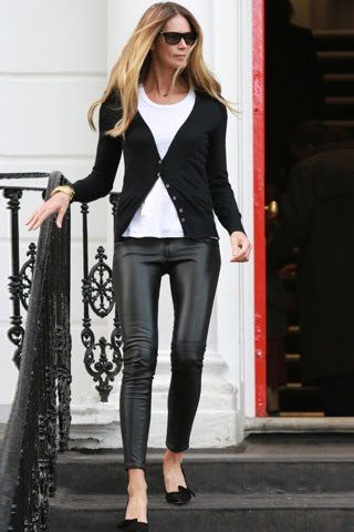 Elle Mcpherson Leather leggings - how to                                                                                                                                                                                 More