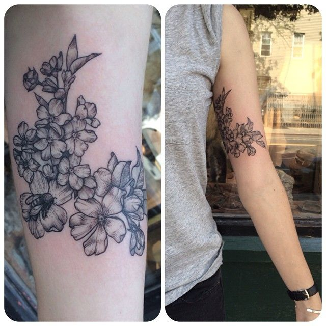 Floral wrap around by Rachel Hauer of East River Tattoo in Brooklyn