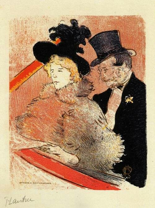 At the Concert 1896 PaintingPainted originally by Henri Toulouse Lautrec