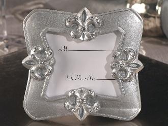 fleur de lis photo frame favor wedding place card