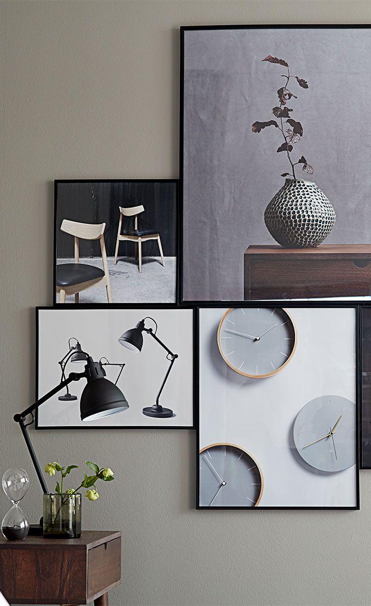 Inspiration til hvordan du også kan indrette væggen på dit soveværelse.