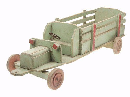 jouet à pousser, camion - mid-century vintage push toy © Musée du Jouet de Bruxelles