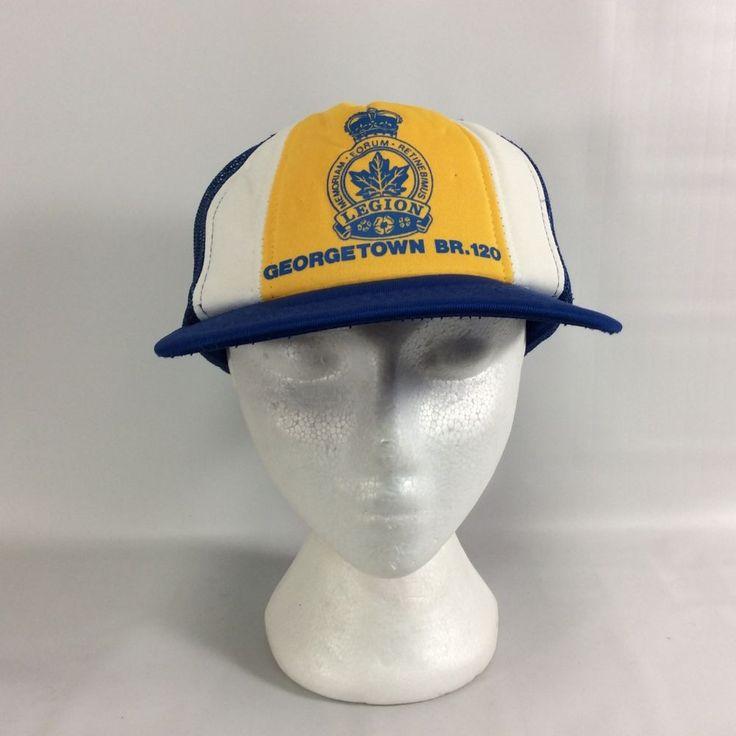 Georgetown BR 120 RCL Royal Canadian Legion Snap Back ONT Vintage Trucker Hat #Unbranded #TruckerHat